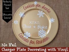 How to decorate a charger plate
