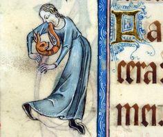 ca. 1325-1340, Luttrell Psalter, vomiting a dragon