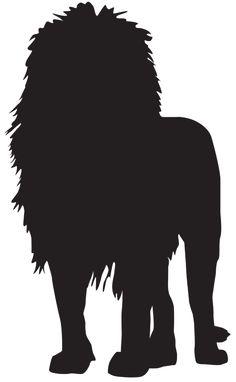 Lion Silhouette PNG Transparent Clip Art Image