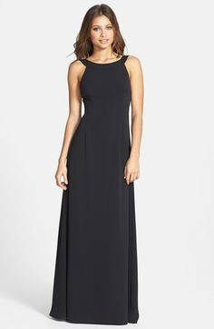 Jill Jill Stuart 'Bows on Back' Crepe Gown available at #Nordstrom