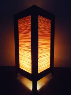 Asian Oriental Design Bamboo Art Bedside Floor or Table Lamp or Bedside Paper Light Shades Furniture Home Decor. $16.97, via Etsy.
