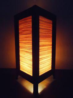 Asian Oriental Design Bamboo Art Bedside Floor or Table Lamp or Bedside Paper Light Shades Furniture Home Decor. $16.97, via Etsy.