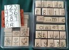 Stampin Up Doodle Alphabet & Numbers Retired Rubber Stamp Set