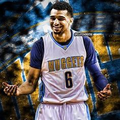 First look at Jamal Murray in a Nuggets jersey! #BBN #Nuggets #nbadraft : @clutchdigital