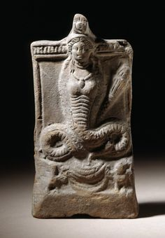 Isis with Serpent Tail  Egypt, 2nd century A.D. Sculpture Terracotta 6 9/16 x 3 3/8 in. (16.6 x 8.6 cm)  LACMA Collections