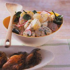 Kartoffelsalat mit Senf-Dill-Dressing: Rezept