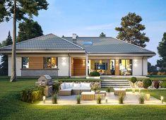 Modern Bungalow Exterior, Dream House Exterior, Modern Bungalow House Design, Bungalow House Plans, Dream House Plans, Tropical House Design, Village House Design, Beautiful House Plans, Model House Plan