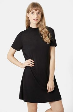 Topshop Funnel Neck Swing Dress (Brit Pop-In) available at #Nordstrom