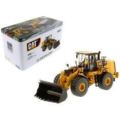CAT Caterpillar 966M Wheel Loader with Operator High Line Series 1-50 Diecast Model by Diecast Masters