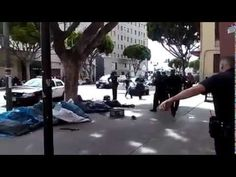 #LAPD shooting a homeless man caught On Cam   Buzz Pickers