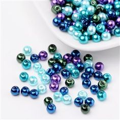 40g Multi Coloured 3mm Faux Pearl Seed Beads for Beading Craft 002