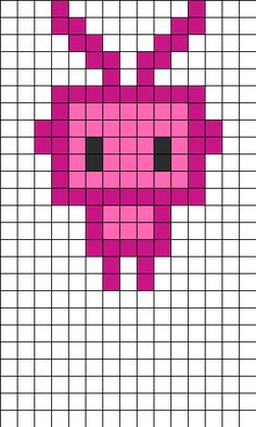 Kawii Robot Perler Bead Pattern | Bead Sprites | Simple Fuse Bead Patterns