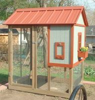 Playhouse Chicken Coop: By Dennis  This coop was designed to satisfy the esthetic requirements of...
