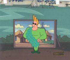 Johnny Bravo Production Animation Art Cel Cartoon Network COA Seal 2*