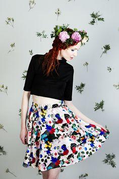 Uhana Design SS16 collection flower skirt.