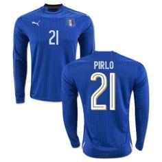 Italien UEFA Euro 2016 Pirlo 21 Hjemmebanetrøje Kortærmet