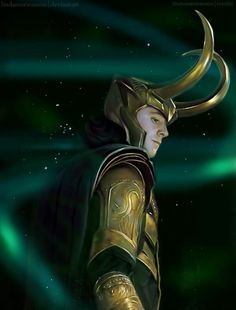 Loki...when being bad looks so good. LOVE the desption written in to this guys looks..