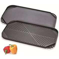 Cook N Home Nonstick Aluminum Double Burner Reversible Griddle  @Overstock - Cook N Home Nonstick Cast Aluminum Double Burner Reversible 19.5-inch by 10.5-inch Griddle/Grill  This Cook N Home features a nonstick, cast aluminum, reversible, double burner. This griddle is dishwasher safe and has a built-in grease drain.http://www.overstock.com/Home-Garden/Cook-N-Home-Nonstick-Aluminum-Double-Burner-Reversible-Griddle/5654367/product.html?CID=214117 $19.97