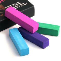 4 צבעים רך אישית יופי ערכת פסטל עפרונות זמני גיר צבע שיער צבע שיער סגנון שיער DIY