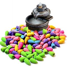 90 Pcs Backflow Natural Smoke Pagoda Indoor Incense Cone Bullet Household Aromatherapy Ocean Sea Air - Brought to you by Avarsha.com