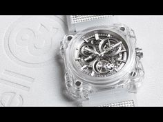 The Bell & Ross Skeleton Tourbillon Sapphire has a sapphire with anti-reflective coating crystal. The case is 45 mm in diameter and the buckle pin is satin-polished steel. It is structured from 5 sapphire Watch News, Watch Video, Bell Ross, Yanko Design, Design Blog, Watch Case, Michael Kors Watch, Chronograph, Sapphire
