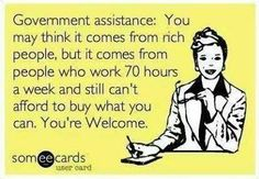 and even if it DID come from rich people, it gives you NO rights to it!!