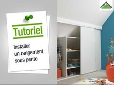 Comment installer un rangement sous pente ? Leroy Merlin - YouTube