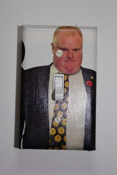 Mayor Rob Ford Light Switch Cover Plate room home decor funny Toronto Mayor crack