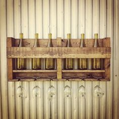 Dark Walnut Wine Rack Wine Storage Rustic by BoondockTreasures, $80.00