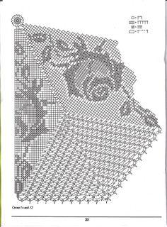 Crochet Diagram, Filet Crochet, Crochet Motif, Crochet Doilies, Crochet Flowers, Knit Crochet, Crochet Round, Crochet Home, Knitting Patterns