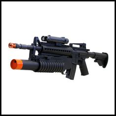 Mini Rambo M16 Spring Rifle, M203 Spring Grenade Launcher, FPS-200 Fore Grip, Flashlight Airsoft Gun | Airsoft Machine Guns | Airsoft Guns Central - Social Network, Product Reviews, Forum, and Blog for Everything Airsoft