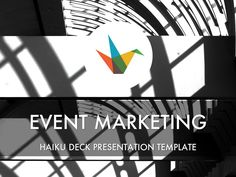 Simple, beautiful, flexible presentation template to promote an event or conference. Ideas: embed in blog or website, post to social media channels, include in event marketing email.