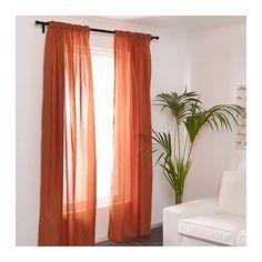"VIVAN Curtains, 1 pair, orange 57x98 ½  VIVAN Curtains, 1 pair, orange, 57x98 ½ "" $9.99"