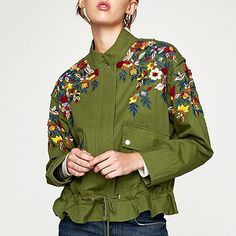 Keep your fall coat game strong with these styles that cover all of your bases, and then some. Here are our favorite women's jacket trends for fall Fall Jackets, Jackets For Women, Floral Embroidery, Bomber Jacket, Chic, My Style, Outfits, Shopping