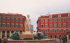 sun fountain in place massena in nice france: http://www.europealacarte.co.uk/blog/2016/04/21/place-massena-in-nice-france/