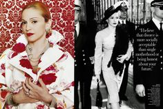 Madonn as Evita in Vanity Fair