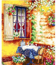 Free Shipping Counted Cross Stitch Kits Delicious Wine Window