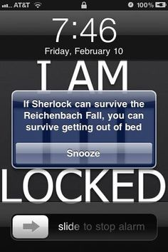 HOW do i make my phone say this, because, obviously, my life.