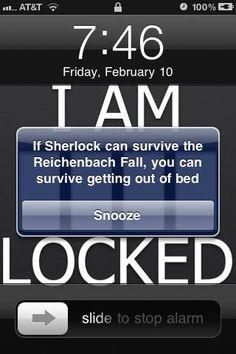 if Sherlock can survive the reichenbach fall you can get out of bed Sherlock Fandom, Sherlock Holmes, Sherlock Humor, Moriarty, The Reichenbach Fall, Mrs Hudson, 221b Baker Street, John Watson, Johnlock