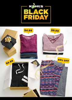 Trust us—you're not going to want to miss these deals. Get your shopping for her (or you) done early this year. Plus, earn $15 Kohl's Cash for every $50 you spend. Shop Black Friday deals for women and juniors at Kohl's. #blackfriday #blackfridaysale #shopping #giftsforher