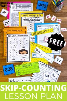 This free lesson plan helps your second grade math students practice skip-counting. It is a standards-based math activity that covers Common Core 2.NBT.2. This free activity will be sent straight to your inbox! Lesson Plan Sample, Math Lesson Plans, Math Lessons, Teaching Second Grade, Second Grade Math, Place Value Activities, Free Activities, Kindergarten Math, Teaching Math