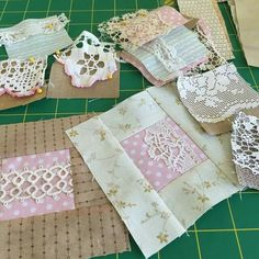 Pretty way to use lace on a quilt.