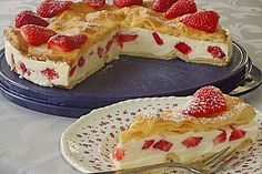 Erdbeer - Flocken - Torte