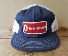 4540be8f4f0 Vtg 80s CFRY 920 AM Radio Denim Mesh Trucker Hat Snapback Baseball Cap  Canada