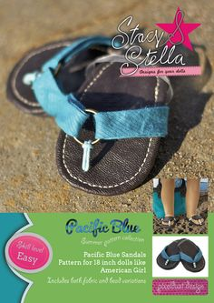 Updated PacificBlue Sandles Doll Shoe Pattern