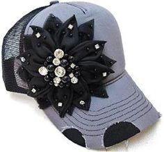 Bling Flower Trucker Hat