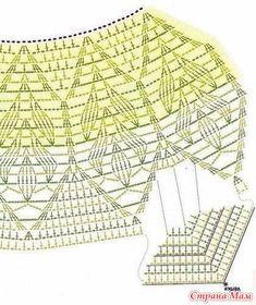 Fabulous Crochet a Little Black Crochet Dress Ideas. Georgeous Crochet a Little Black Crochet Dress Ideas. Crochet Skirt Pattern, Crochet Lace Edging, Crochet Skirts, Crochet Motifs, Crochet Diagram, Crochet Clothes, Crochet Stitches, Pattern Dress, Gilet Crochet