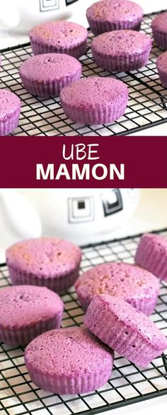 Ube Mamon are soft bites of heaven! Moist, fluffy, and delightfully flavored with ube, these sponge cakes make the perfect snack or dessert any time of day. Filipino Dishes, Filipino Desserts, Filipino Recipes, Filipino Food, Pinoy Recipe, Ube Recipes, Snack Recipes, Dessert Recipes, Snacks