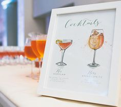 Its Friday...its 5 o clock... C O C K T A I L S  This wedding cocktail menu was the first I ever created the first Aperol Spritz I painted and the start of a very popular painting subject matter. My gin bottle table plan will be on display all weekend at @exetercastle for the Winter Wedding Fair with @bluefizzevents. Im in the ballroom and will be painting at my stand across the weekend. Looking forward to seeing you  Image @mckinleyrodgers