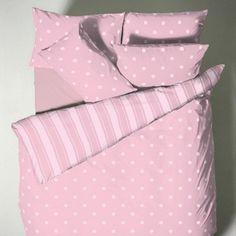 Polla Dot Pink printed Duvet and Pillowcase set
